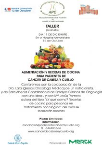 Alimentación, pacientes de cáncer de cabeza y cuello, Asociación Española de Pacientes de Cáncer de Cabeza y Cuello APC