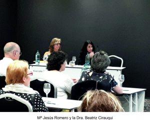 Mª jesús Romero y Dra. Beatriz Cirauqui
