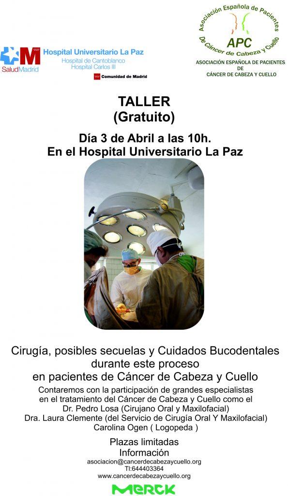 Cáncer de Cabeza y Cuello- Taller en el Hospital La Paz