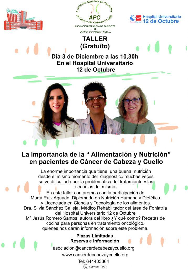 Taller Alimentación y Nutrición en Pacientes de Cáncer de Cabeza y Cuello